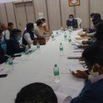 ग्रामीण विकास विभाग द्वारा संचालित योजनाओं के प्रति हो रहे कार्यों की समीक्षा